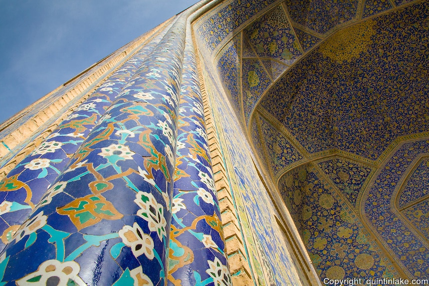 Imam Mosque (Masjed-e Imam), is a mosque in Isfahan, Iran standing in south side of Naghsh-i Jahan Square. Built 1611 - 1629. Architect: Shaykh Bahai